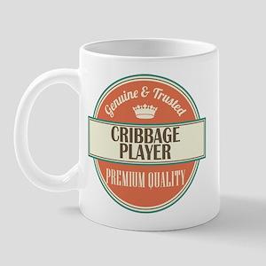 cribbage player vintage logo Mug