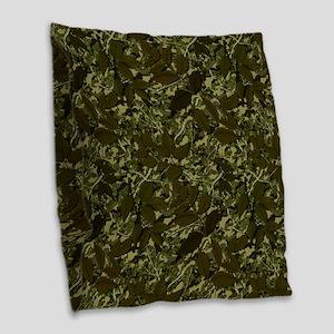 What Lies Beneath Burlap Throw Pillow