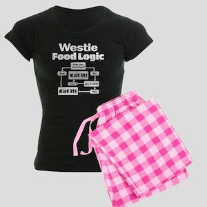 Westie Food Women's Dark Pajamas