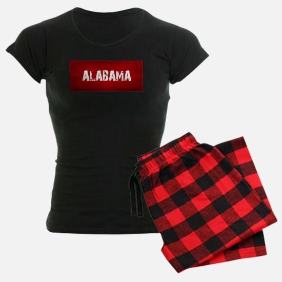 ALABAMA RED and white pajamas