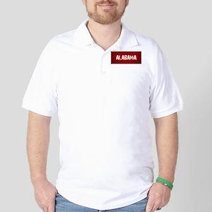 ALABAMA RED and white Golf Shirt