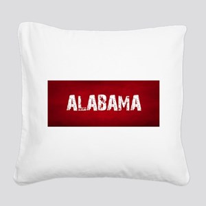 ALABAMA RED and white Square Canvas Pillow