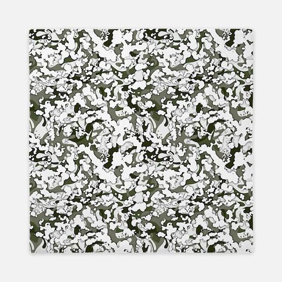 Winter Camouflage Queen Duvet