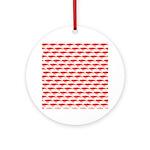 Krill Pattern Round Ornament