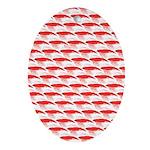 Krill Pattern Oval Ornament