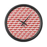 Krill Pattern Large Wall Clock
