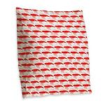 Krill Pattern Burlap Throw Pillow
