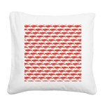Krill Pattern Square Canvas Pillow