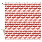 Krill Pattern Shower Curtain