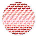 Krill Pattern Round Car Magnet