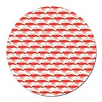 Krill Pattern Round Car Magnet