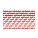 Krill Pattern Rectangle Car Magnet