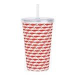 Krill Pattern Acrylic Double-wall Tumbler