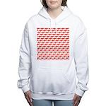 Krill Pattern Women's Hooded Sweatshirt