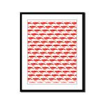 Krill Pattern Framed Panel Print