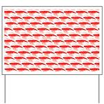 Krill Pattern Yard Sign
