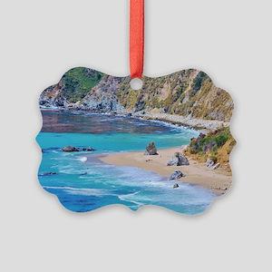 Big Sur Beach Picture Ornament