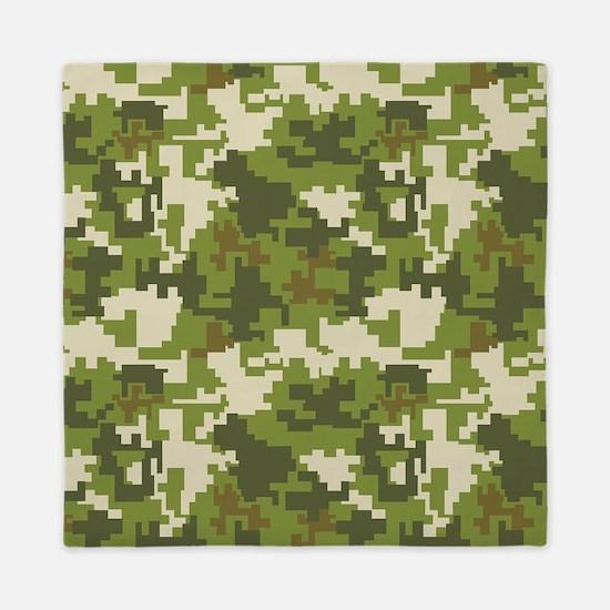 Digital Camouflage Queen Duvet