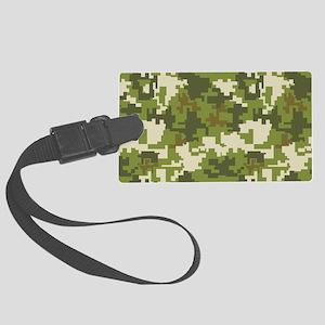 Digital Camouflage Large Luggage Tag