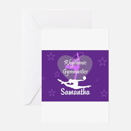 Purple Rhythmic Gymnastics Greeting Cards