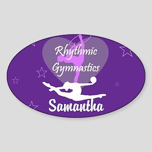Purple Rhythmic Gymnastics Sticker