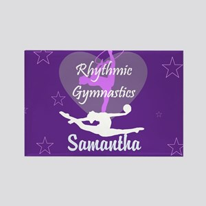 Purple Rhythmic Gymnastics Magnets