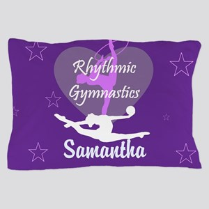 Purple Rhythmic Gymnastics Pillow Case