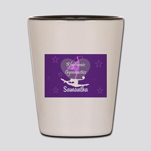 Purple Rhythmic Gymnastics Shot Glass
