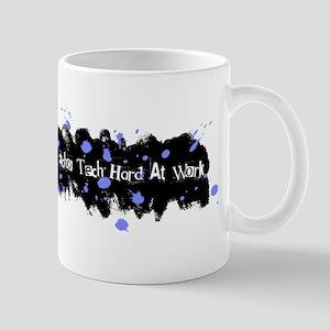 Hard At Work Gel Splatter Blue/White Mug