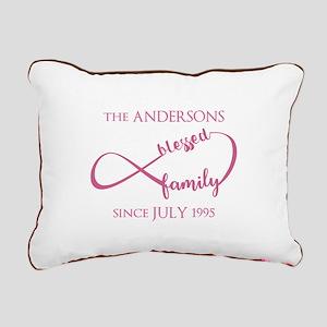 Monogram Family Surname Rectangular Canvas Pillow