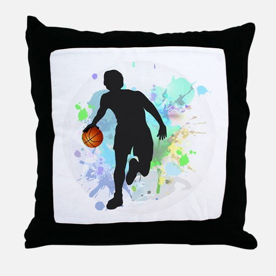 Funny Athletics Throw Pillow