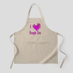 I (Heart) Love Rough Sex Apron