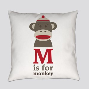 M Is For Monkey Everyday Pillow