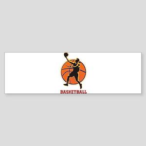 Basketball Logo with Layup Bumper Sticker