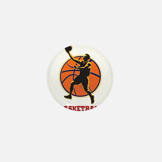 Basketball Logo with Layup Mini Button