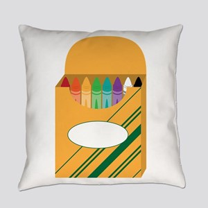 Box of Crayons Everyday Pillow