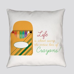 Life Crayons! Everyday Pillow