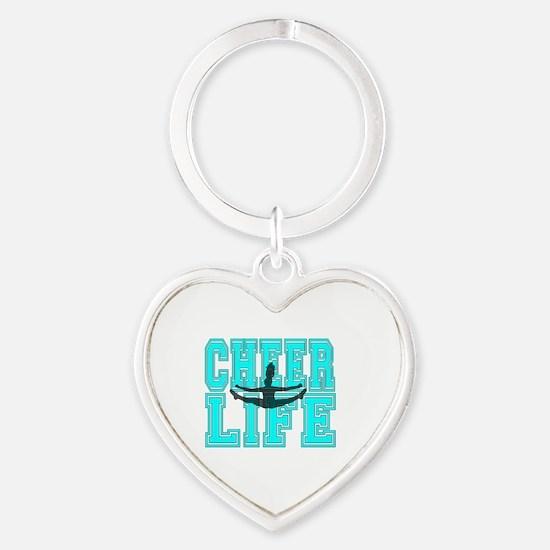 Unique Cheer Heart Keychain