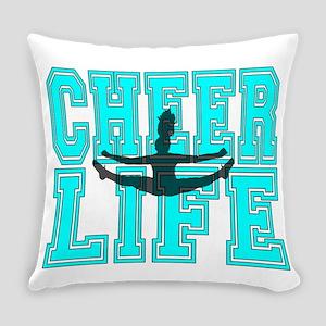 Blue Cheerleader Everyday Pillow