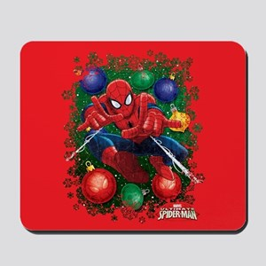 Holiday Spider-Man Ornaments Mousepad