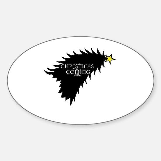Unique Geek christmas Sticker (Oval)