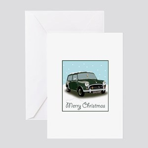 Classic mini traveller car Greeting Cards