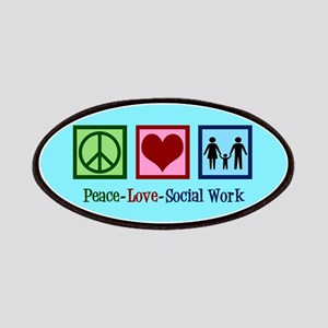 Peace Love Social Work Patch