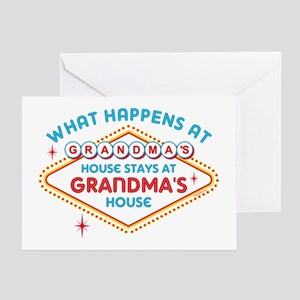 What happens in vegas stays in vegas greeting cards cafepress las vegas stays at grandmas greeting card m4hsunfo