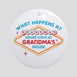 Las Vegas Stays At Grandma's Ornament (Round)