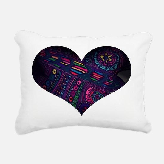 Unique Fleece throw Rectangular Canvas Pillow