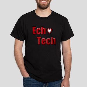 Ech(Heart) Red White Dark T-Shirt