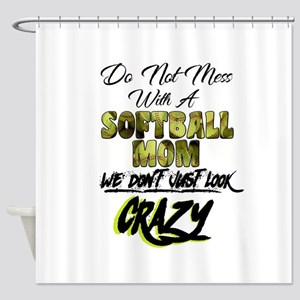 don't mess with a softball mom Shower Curtain