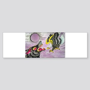 Wolf and Eagle Bumper Sticker