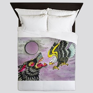 Wolf and Eagle Queen Duvet